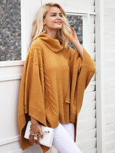 Load image into Gallery viewer, Knitted Turtleneck Pullover Capes Sweaters-BelleChloe-o1o.store