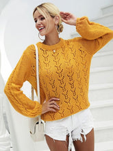 Load image into Gallery viewer, Sexy Hollow O-neck Long Sleeve Casual Pullover Loose Knitted Sweaters-BelleChloe-o1o.store