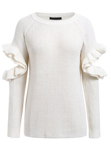 Elegant Ruffles Winter Sweater-BelleChloe-o1o.store