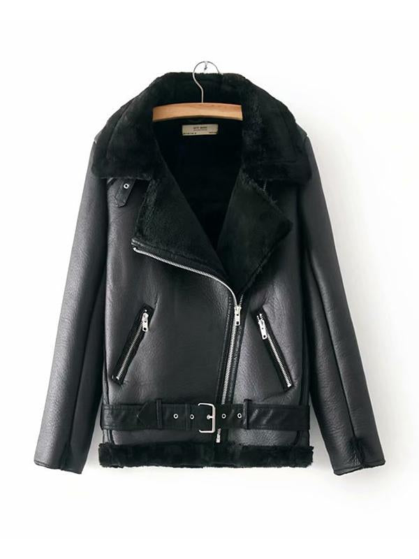 【Quality】Women's Autumn and Winter Thickening Velvet Faux Fur Jacket-BelleChloe-o1o.store