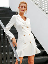 Load image into Gallery viewer, Elegant Ruffle Double Breasted Office Casual Blazer Dresses-BelleChloe-o1o.store