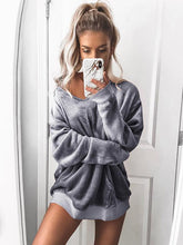 Load image into Gallery viewer, Warm Velvet Long Sleeve Sweatershirt-BelleChloe-o1o.store