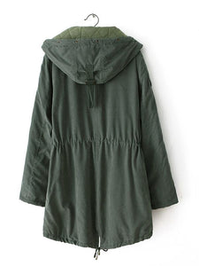 [Quality] Thick Female Midium-Long Hood Cotton Coat-BelleChloe-o1o.store