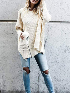 Fashion Female Loose Pullover Sweater-BelleChloe-o1o.store