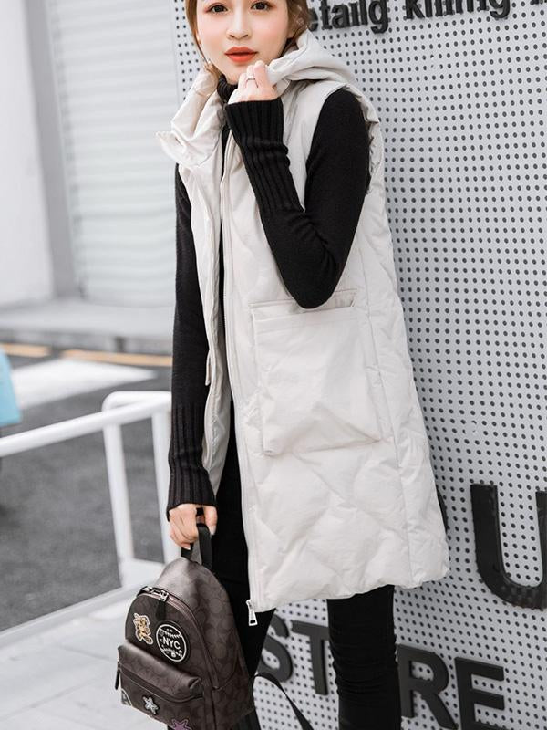 Winter Vest Thick Padded Warm Sleeveless Jacket-BelleChloe-o1o.store