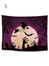 Load image into Gallery viewer, Halloween Moon Castle Print Tapestry Wall Art-BelleChloe-o1o.store