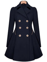 Load image into Gallery viewer, Lapel Windbreaker Long Winter Parka Coat-BelleChloe-o1o.store
