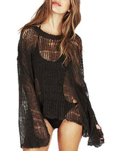 Load image into Gallery viewer, Knitted Solid Color Sexy Hollow Loose Casual Lightweight Sweater-BelleChloe-o1o.store