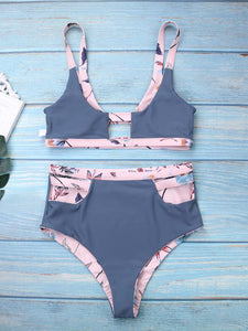 Printed Design Beach Vacation Double Wear Swimsuit-BelleChloe-o1o.store