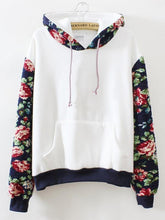 Load image into Gallery viewer, Pure Flower Long Sleeve Hooded Sweatshirt-BelleChloe-o1o.store