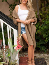 Load image into Gallery viewer, Solid Color Lapel Batwing Sleeves Casual Loose Long Cardigan-BelleChloe-o1o.store