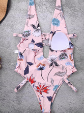 Load image into Gallery viewer, One Piece High Cut Floral Printed Swimwear-BelleChloe-o1o.store