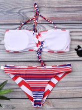 Load image into Gallery viewer, Color Blocking Vert-Bar Design Swimsuit-BelleChloe-o1o.store