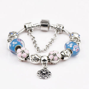 DIY Beaded Bracelet - Cherry Blossoms-o1o.store-o1o.store