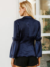Load image into Gallery viewer, Flare Sleeve Double Breasted Splice V-Neck Coat-BelleChloe-o1o.store