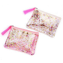 Load image into Gallery viewer, Zipper tassels clutch bag summer jelly bag sequins purse