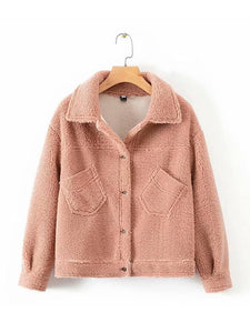 【Quality】Women's Winter Warm Fleece Fur Coat with Front Pocket-BelleChloe-o1o.store