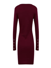 Load image into Gallery viewer, Sexy Slim Solid color Button Knit Dress-BelleChloe-o1o.store