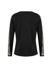 Load image into Gallery viewer, Fashion V-Neck Stitching Color Shining Long Sleeve Pullover T-shirt-BelleChloe-o1o.store
