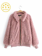 Load image into Gallery viewer, 【Quality】Women's Thick Fluffy Fleece High Street Zipper Jacket-BelleChloe-o1o.store