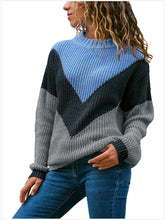 Load image into Gallery viewer, 【Quality】High-Becked Loose Long Sleeve Contrast Color Sweater-BelleChloe-o1o.store