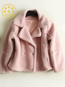 【Quality】Fleece Solid Color Short Jacket-BelleChloe-o1o.store