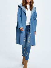 Load image into Gallery viewer, Casual Loose Hooded Wind Jean Coat-BelleChloe-o1o.store
