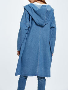 Casual Loose Hooded Wind Jean Coat-BelleChloe-o1o.store
