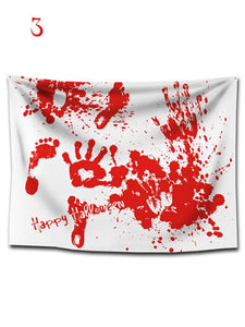Halloween Bloody Silhouette Siulok Rmx Print Removable Wall Tapestry-BelleChloe-o1o.store