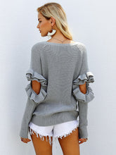 Load image into Gallery viewer, Elegant Ruffles Winter Sweater-BelleChloe-o1o.store