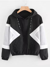 Load image into Gallery viewer, [Quality] Contrast Panel Hooded Jacket-BelleChloe-o1o.store
