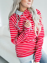 Load image into Gallery viewer, 2018 Autumn And Winter Striped Stitching Hoodie-o1o.store-o1o.store