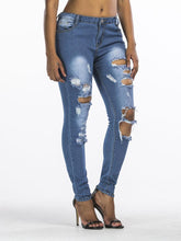 Load image into Gallery viewer, 【Quality】Blue Wash Fashion Cowboy Skinny Pants-BelleChloe-o1o.store