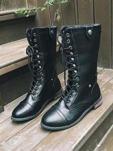 Load image into Gallery viewer, Fashionable Pu Leather Lace-Up Martin Boots-BelleChloe-o1o.store
