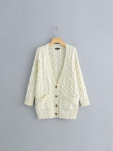 Load image into Gallery viewer, Twist Button Solid Color Knit Cardigan-BelleChloe-o1o.store