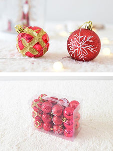 24Pics Colored Christmas Shaped Ball Bright Ball Light Ball-BelleChloe-o1o.store