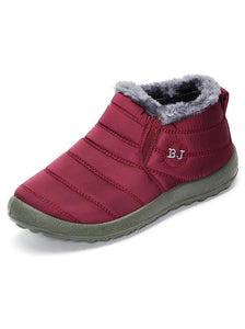 Waterproof Antiskid Comfortable Plus Size Flat Snow Boots-BelleChloe-o1o.store
