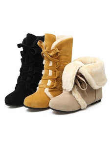 Chic Frenal Fur Hidden-Heel Women'S Snow Boots-BelleChloe-o1o.store