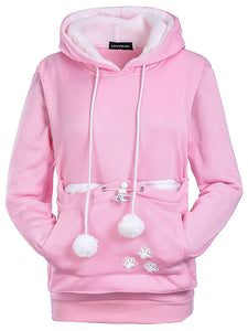 Autumn And Winter Cat and Dog Kangaroo Big Pocket Pet Hooded Sweater Women's Sweater-o1o.store-o1o.store