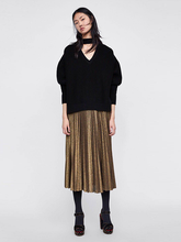 Load image into Gallery viewer, Hollow V Solid Color Fashion Knit Sweater-BelleChloe-o1o.store