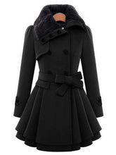 Load image into Gallery viewer, Mid-Length Woolen Coat Double-Breasted Thick Coat-BelleChloe-o1o.store