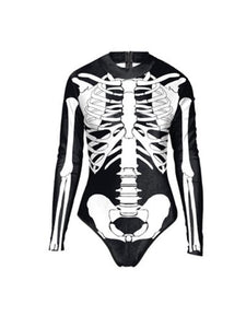 Halloween Long Sleeve Swimsuit-BelleChloe-o1o.store