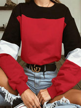 Load image into Gallery viewer, Color Block Drawstring Long Sleeve Top-BelleChloe-o1o.store