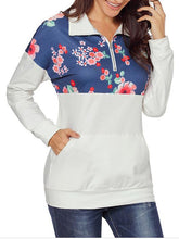 Load image into Gallery viewer, [Quality] Floral Color Block Hoodie-BelleChloe-o1o.store