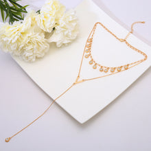 Load image into Gallery viewer, Synthetic Diamond Tassel Pendant Necklace-o1o.store-o1o.store