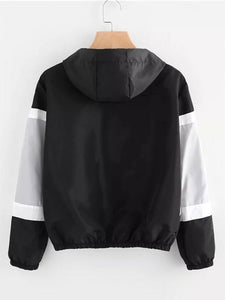 [Quality] Contrast Panel Hooded Jacket-BelleChloe-o1o.store