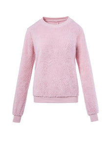 Faux Shearling Sweatshirt-BelleChloe-o1o.store