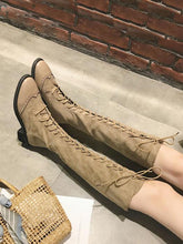 Load image into Gallery viewer, Cool Lace-Up Stiched Long Martin Boots-BelleChloe-o1o.store