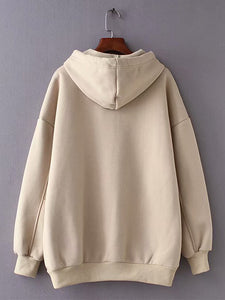 Drawstring hooded women's sweater-o1o.store-o1o.store