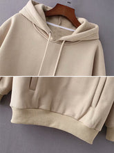 Load image into Gallery viewer, Drawstring hooded women's sweater-o1o.store-o1o.store